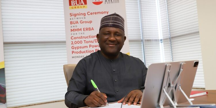 BUA, MMM ERBA of Turkey sign agreement to construct 2,000tons/day Plaster (Gypsum Powder) Manufacturing Plant