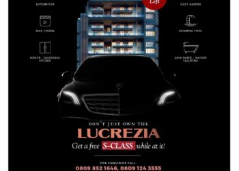 Get a free brand new S-class when you own a unit of Africa's best condominumum – LucreziaBySujimoto