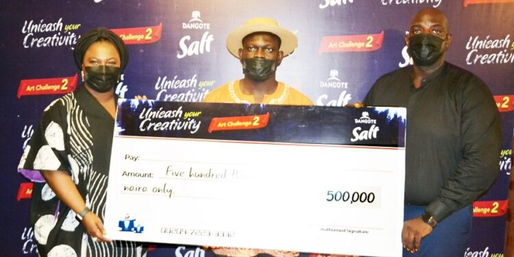 NASCON announces artist Timothy Undiandeye as the winner of Dangote Salt Art Challenge 2021